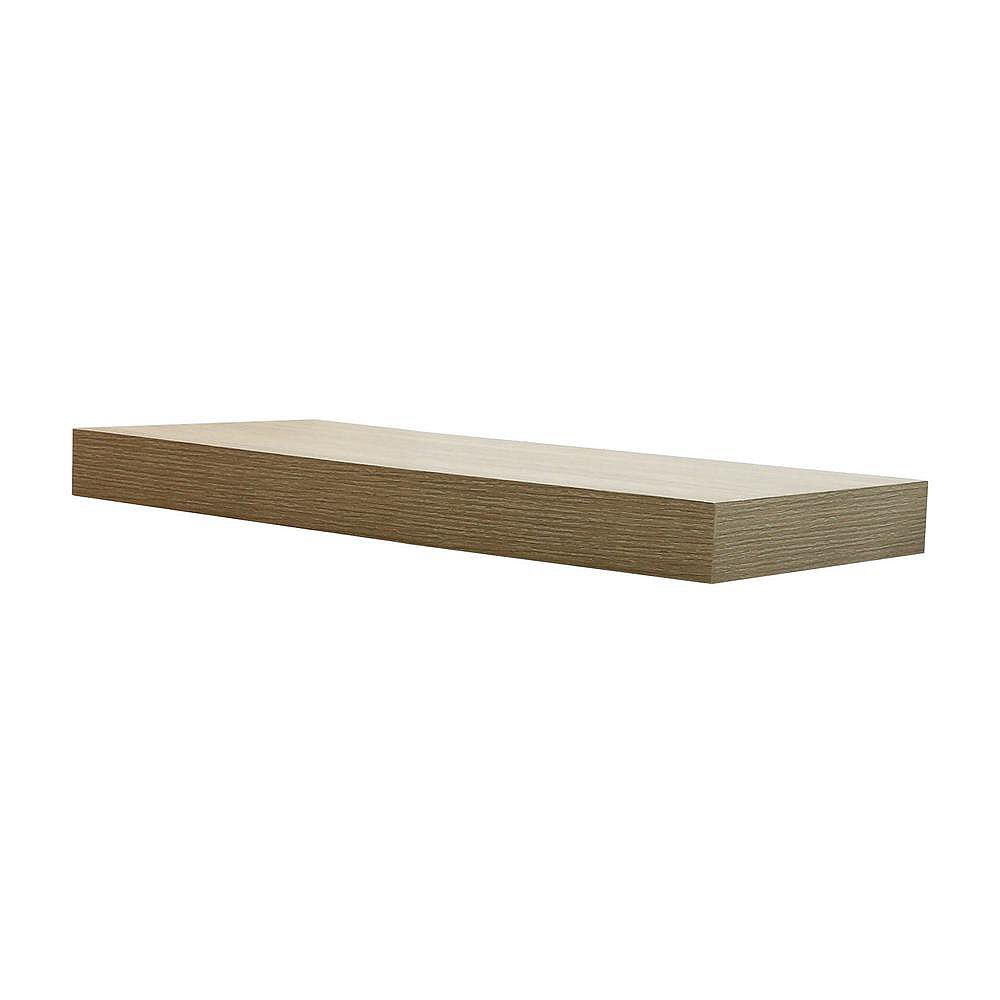 Home Decorators Collection 24 inch Grey Oak Floating Shelf