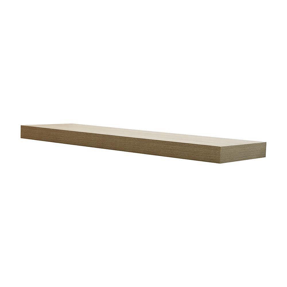 Home Decorators Collection 42 inch Grey Oak Floating Shelf