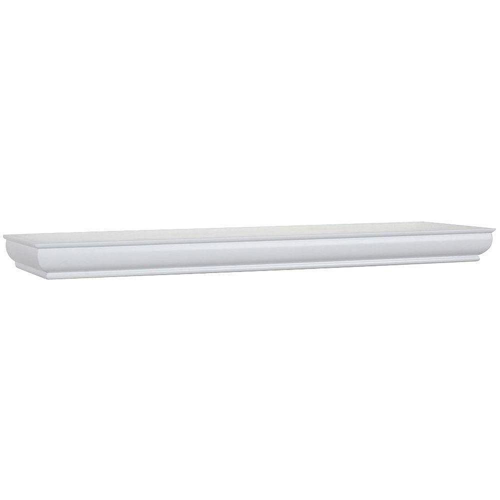 Home Decorators Collection 42 inch White Floating Shelf