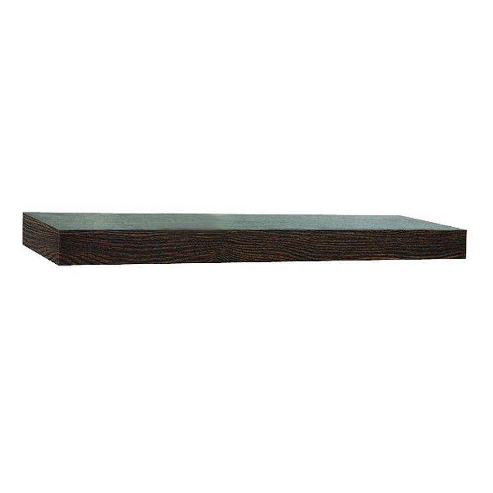 In Place 36 inch Oak Plank Floating Shelf