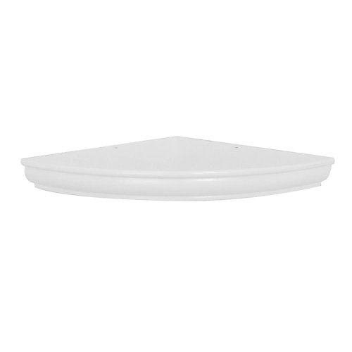 18 inch White Profile Floating Corner Shelf