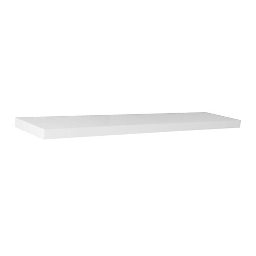 36 inch White Slim Floating Shelf