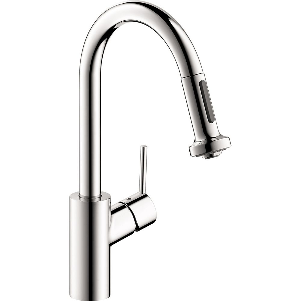 Hansgrohe Talis S² 1-Handle Pull-Down Sprayer Prep Kitchen Faucet in Chrome