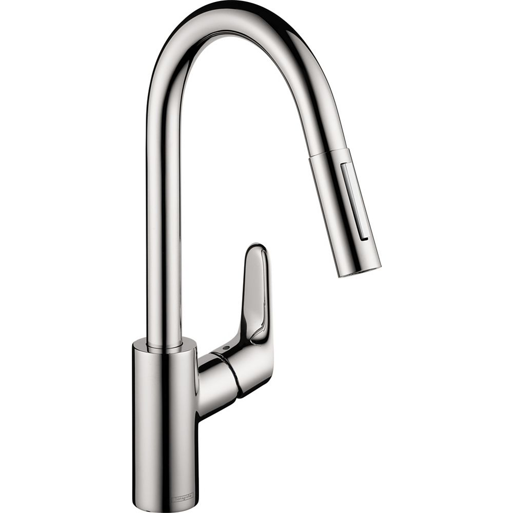 Hansgrohe Focus Single-Handle Pull-Down Sprayer Kitchen Faucet in Chrome