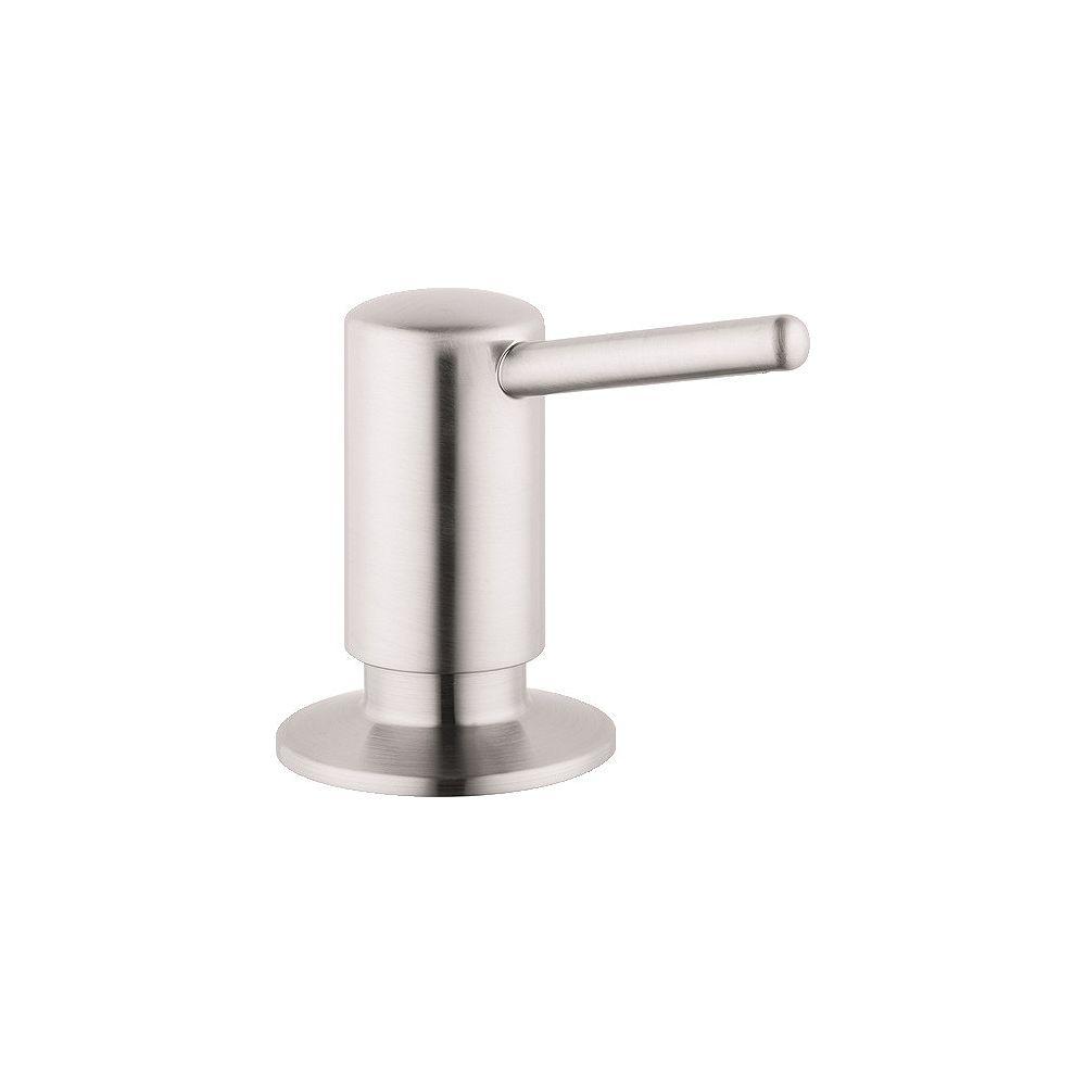 Hansgrohe Contemporary Soap Dispenser in Steel Optik