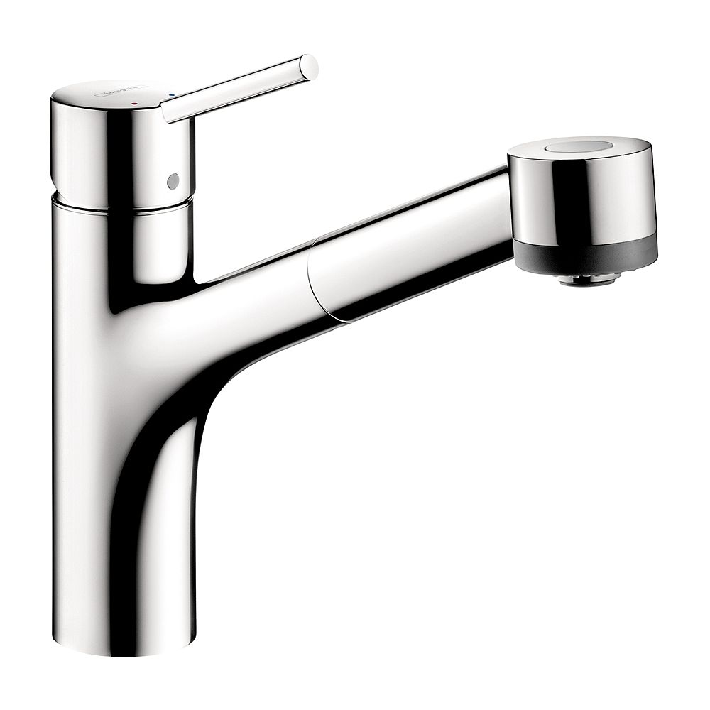 Hansgrohe Talis S 1-Handle Pull-Out Sprayer Kitchen Faucet in Chrome