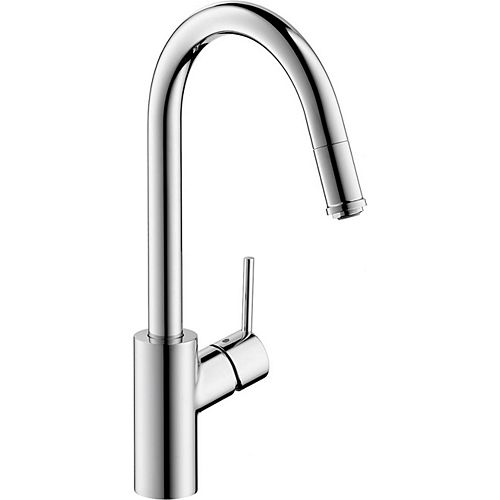 Talis S² High Arc 1-Handle 1-Spray Pull-Down Sprayer Kitchen Faucet in Chrome