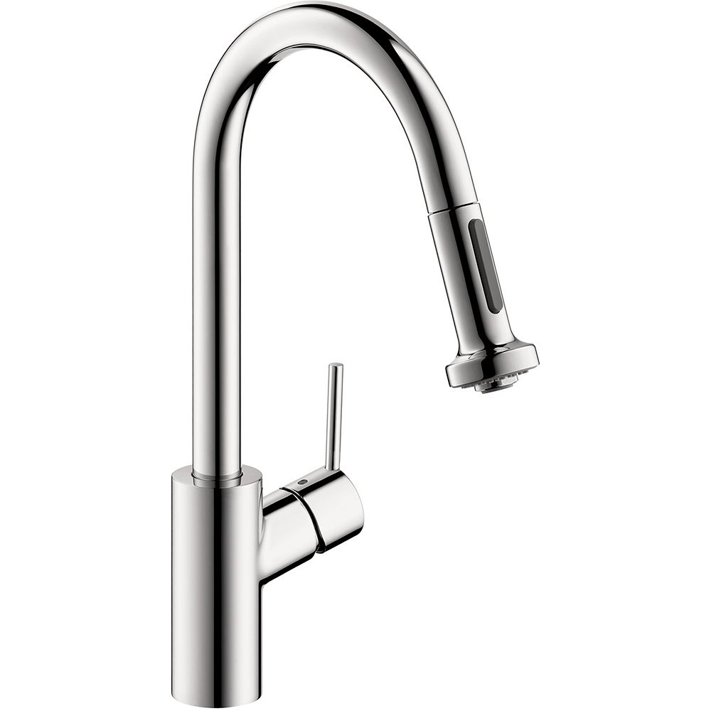 Hansgrohe Talis S² High Arc 1-Handle 2-Spray Pull-Down Sprayer Kitchen Faucet in Chrome