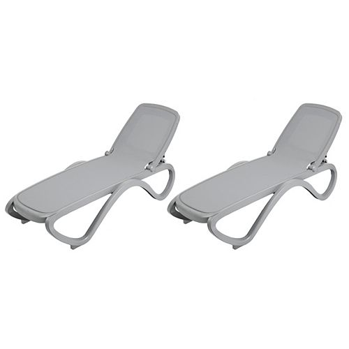 Omega Chaise 2 Pack (Cement Grey)