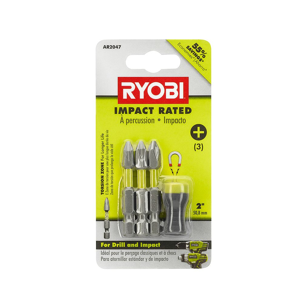 RYOBI Impact Rated Driving with Magnetic Bit Sleeve Set (4-Piece)