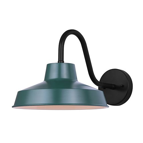 WALLACE 1-light indoor/outdoor wall light in forest green