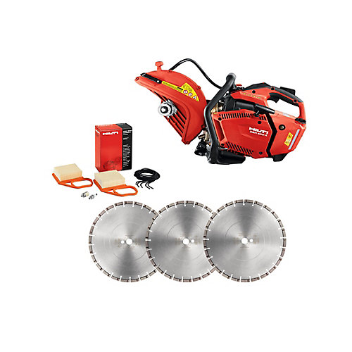 DSH 600-X 12 in. Hand Held Gas Saw with 12 in. Premium Diamond Saw Blades
