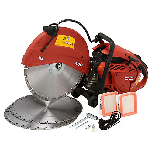 DSH 900X 90CC 16 in. Hand Held Gas Saw with Blades
