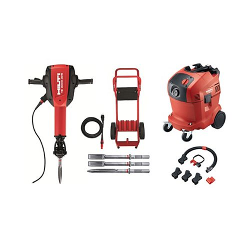 15 Amp 120-Volt 1-1/8 in. TE 3000-AVR Polygon Demolition Jack Hammer with Dust Removal System