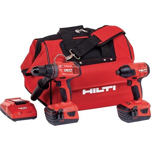 Hilti 22-Volt Lithium-Ion Keyless Chuck Cordless Hammer Drill Driver/Impact Driver Combo Kit (2-Tool)