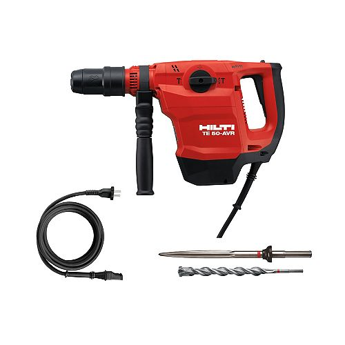 120-Volt SDS Max TE 50-AVR Corded Rotary Hammer Drill Kit with Pointed Chisel, Drill Bit and Cord