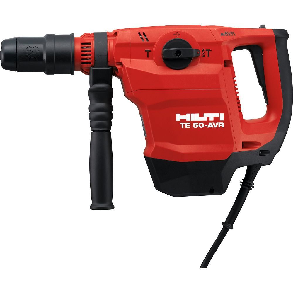 Hilti TE 50-AVR SDS 360 RPM Max Hammer Drill/Chipping Hammer with 7 Drill Bits in a Large Tool Bag