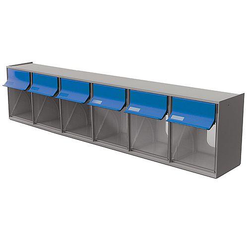 Ideal Security Tilt Bin G2 - 6 bins (Grey/Blue)