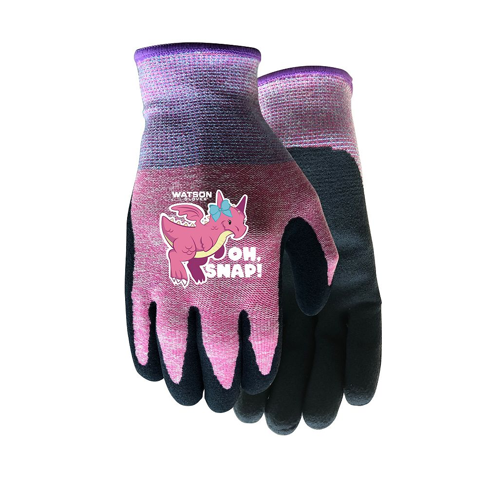 Watson Gloves Eco-Friendly Kids Gloves with Sandy Latex Palm Grip - Oh,  Snap! - XS | The Home Depot Canada