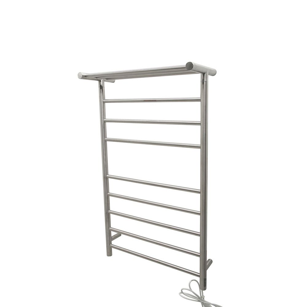 Anzzi Eve 8 Bar Stainless Steel Wall Mounted Electric Towel Warmer Rack In Brushed Nickel The Home Depot Canada