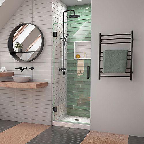 DreamLine Unidoor-LS 68.58 cm. W x 182.88 cm. H porte de douche à sans cadre en Noir satiné