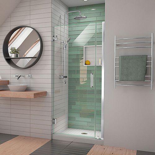 DreamLine Unidoor-LS 30-31 inch W x 72 inch H Frameless Hinged Shower Door in Chrome