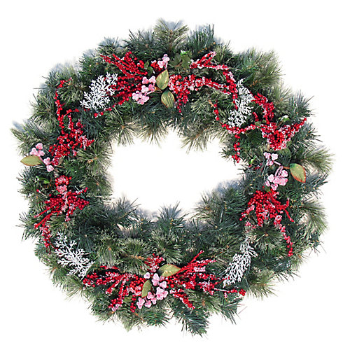 30' Decorated Wreath Floral