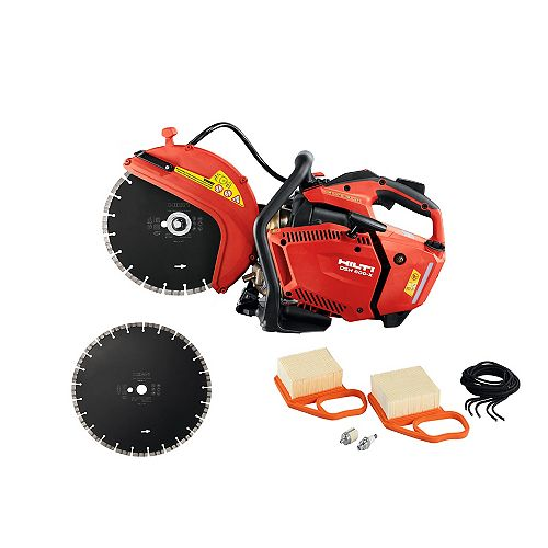 DSH 600-X 12 in. Hand Held Gas Saw with 12 in. SP Universal Diamond Saw Blades