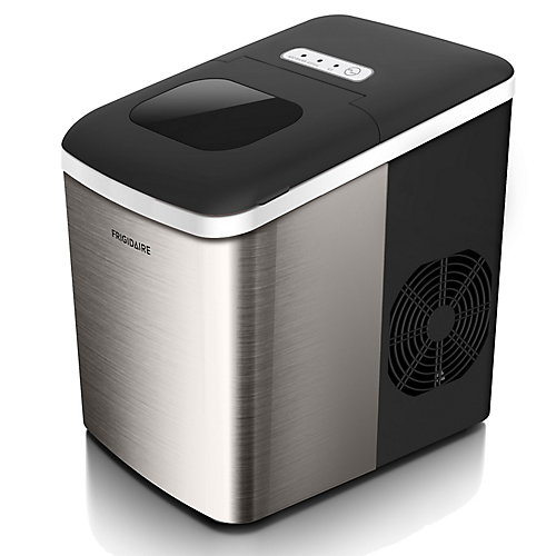26lb Countertop Stainless Steel Bullet Shaped Ice Maker
