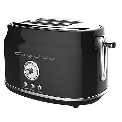 2 Slice Retro Toaster - Black