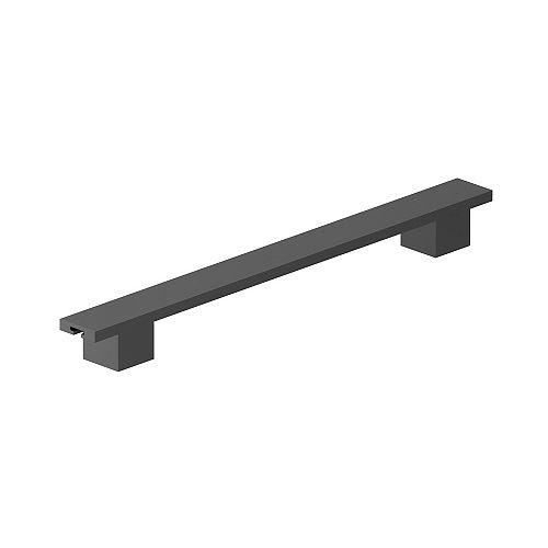 Richelieu Traction de cabinet contemporain noir mat de 224 mm (8 13/16 pouces) centre à centre