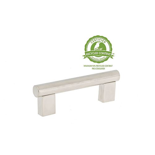 Richelieu 3-inch (76.2 mm) Center-to-Center Brushed Nickel Contemporary Cabinet Pull