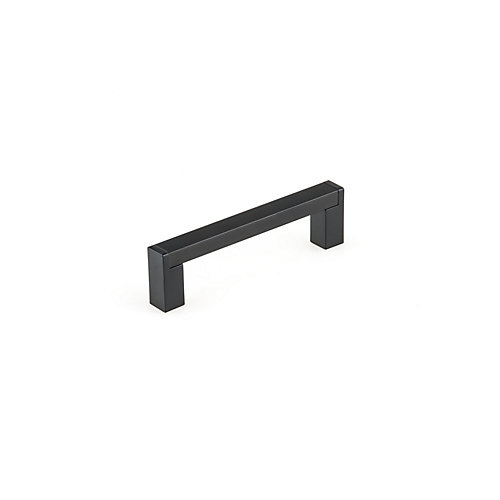 3 3/4-inch (96 mm) Center-to-Center Matte Black Contemporary Cabinet Pull