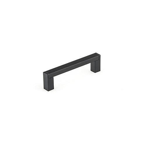 Tirette de cabinet contemporain noir mat de 96 mm (3 3/4 pouces) centre à centre