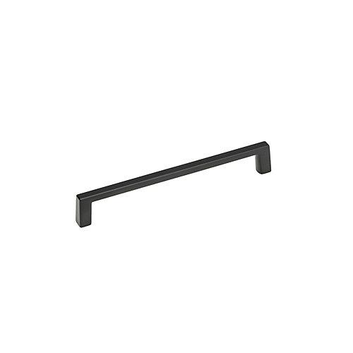 Collection Eglinton Tirage de cabinet contemporain noir mat de 6 pouces (152 mm) centre à centre