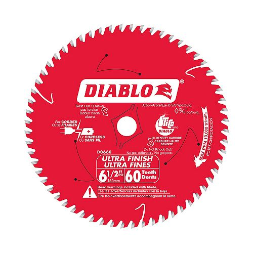 6-1/2 Inch x 60-Tooth Ultra Finish Saw Blade
