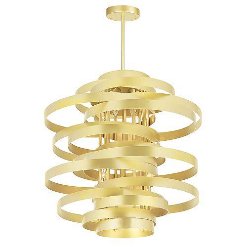 "CWI Lighting Elizabetta 18"" 6 Light Chandelier with Gold Leaf Finish"