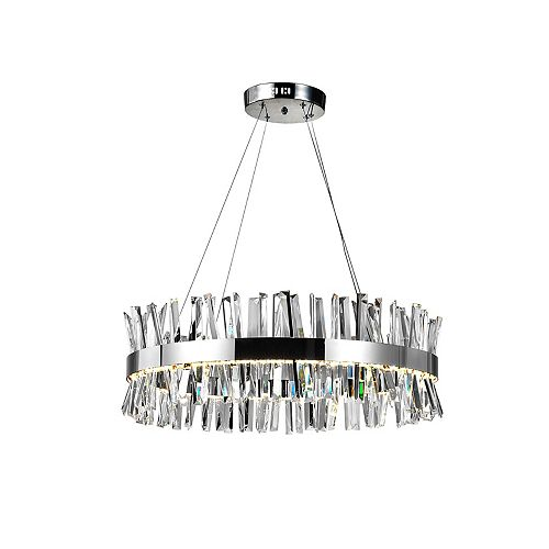 "Faye 32"" LED Chandelier with Chrome Finish"