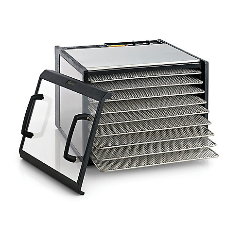 Excalibur 9 Tray Stainless Steel Dehydrator with Clear Door