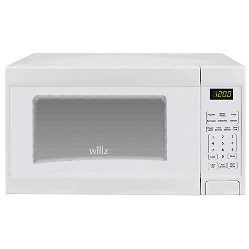 Willz 0.9 cu.ft. Countertop Microwave Oven, White