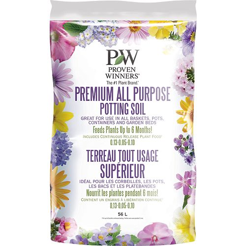 Proven Winners Premium All Purpose Potting  Soil 56L