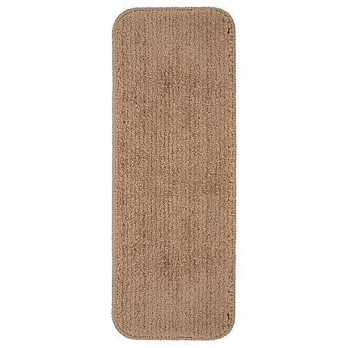 Comfort Collection Camel 9-inch x 26-inch Rubber Back Plush Stair Tread (Set of 5)