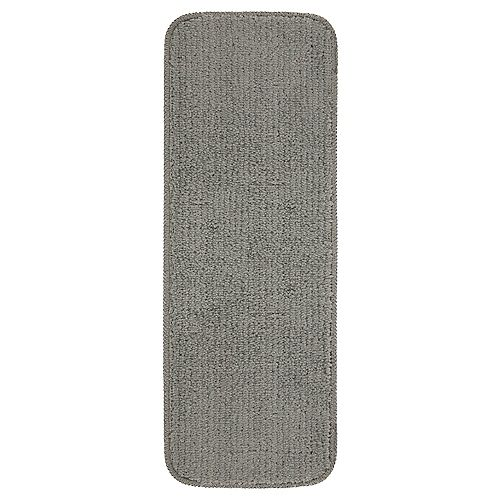 Comfort Collection Grey 9-inch x 26-inch Rubber Back Plush Stair Tread (Set of 5)
