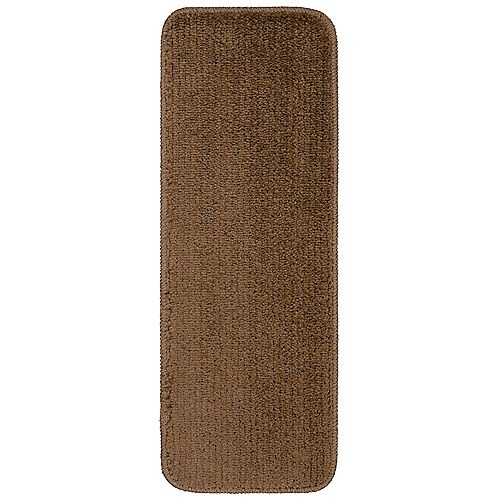 Comfort Collection Brown 9-inch x 26-inch Rubber Back Plush Stair Tread (Set of 5)