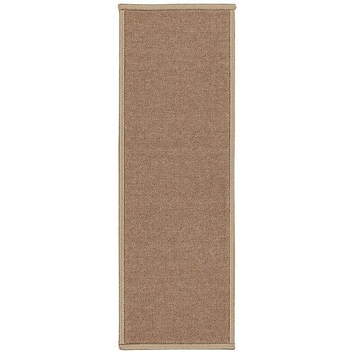 Dark Beige 8.5-inch x 26.5-inch Non-Slip Rubber Back Stair Tread Cover (Set of 7)