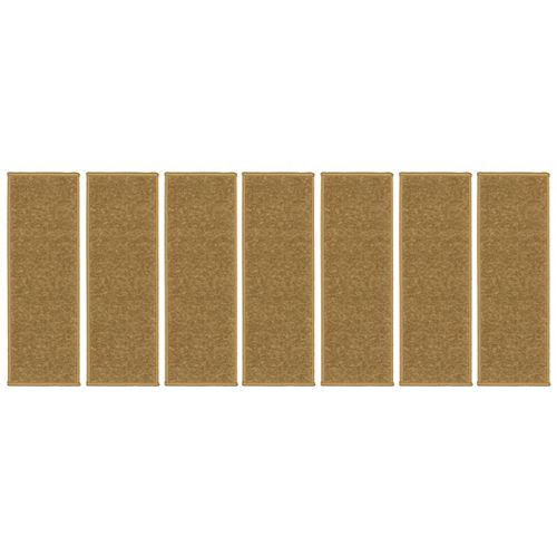Escalier Collection Beige 8.5-inch x 26.5-inch Rubber Back Stair Tread (Set of 7)