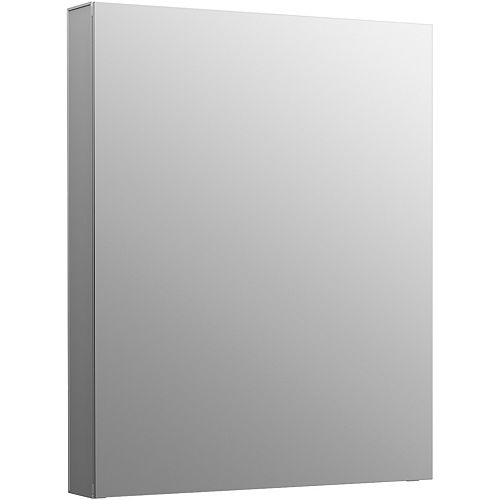 Maxstow 20-inch W x 24-inch H Frameless Surface-Mount Aluminum Medicine Cabinet