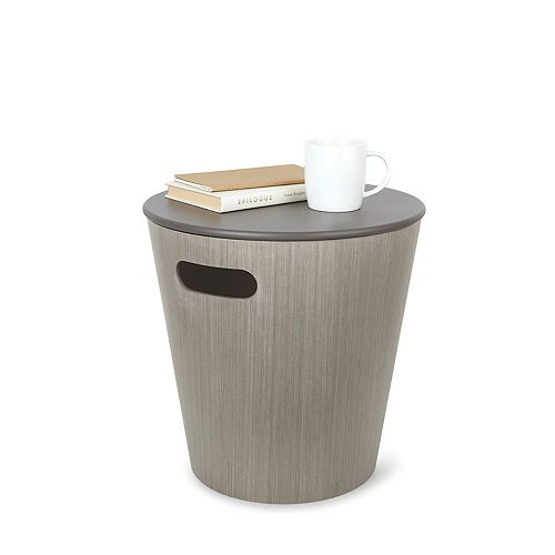 Woodrow Storage Stool Grey