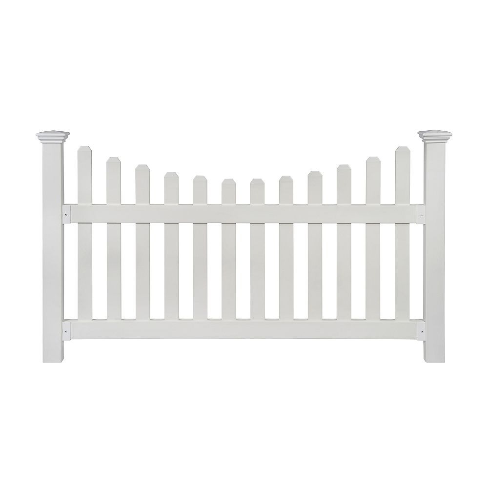 Zippity Outdoor Products All American 3.5 ft. H x 6 ft. W No-Dig Vinyl Fence Kit with Post