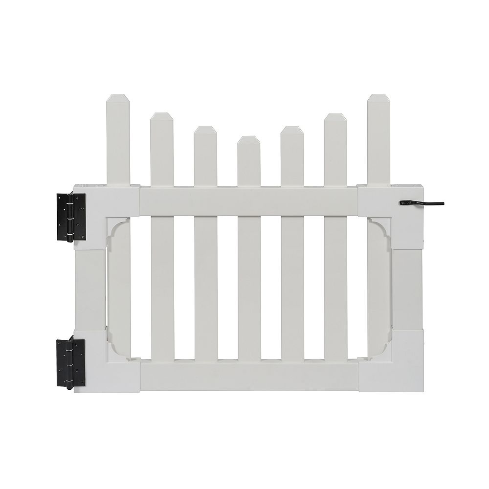 Zippity Outdoor Products All American 3 ft. H x 3.5 ft. W Vinyl Gate with Stainless Steel Hardware